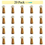 20 Pack 10 LED Wine Bottle Cork Lights, Fairy Mini String Lights Copper Wire, Battery Operated Starry Lights for DIY, Christmas, Halloween, Wedding, Party, Indoor&Outdoor (Warm White)