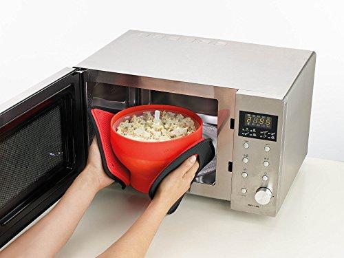 Lékué Recipiente para cocinar Palomitas, Rojo, 20 cm