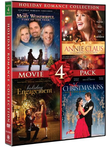 Holiday Romance Collection Movie 4 Pack (A Christmas Kiss, Holiday Engagement, The Most Wonderful Time Of The Year, Annie Claus Is Coming To Town)
