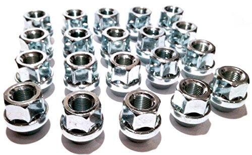 Spot on Lot de 20 écrous de roue en alliage zingués (M12 x 1,25) assise conique, 19 mm hexagonalLot de 20 écrous de roue.