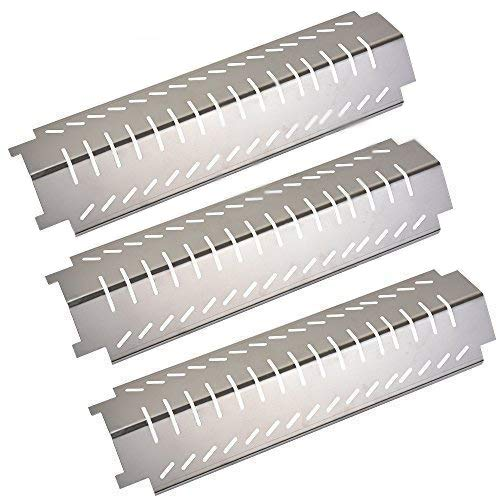 GasSaf Grill Heat Plate Replacement for Charbroil, Thermos, Centro, Costco Kirkland, 3-Pack 15 inch Stainless Steel Tent Shield Plate Deflector, BBQ Burner Cover Barbecue Flame Tamer