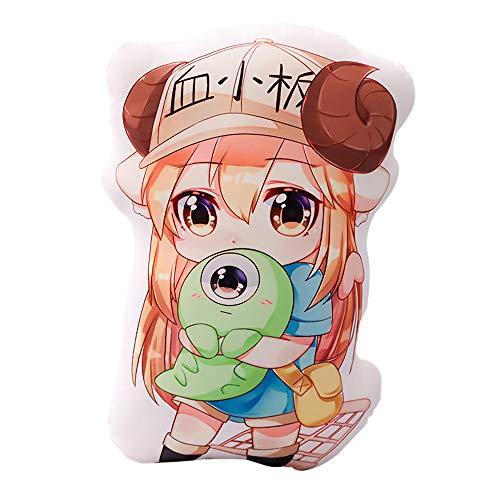 Xiongmao Working Cell Dakimakura Plush Dakimakura Anime Moe Goods Print Respaldo de Doble Cara Almohada de Felpa Healing Cosplay Presente Sideways Sleeping Pillow Cover Lavable