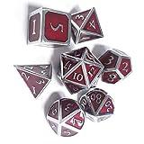 Funihut Polyedrische Würfel Set mit Taschen Doppel-Farben Polyedrischer Spielwürfel für Dungeons...
