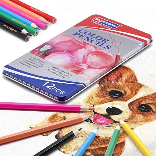 Lapices de Colores Profesionales, lapiz para colorear de Dibujo y Bosquejo Material...
