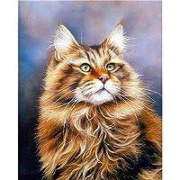 クロスステッチ 大人のためのクロスステッチキット かわいい子猫 40x50cm 11CT番号別刺繍キット手作りキットパンチ針刺繍DIY初心者向け手作りスターターキット