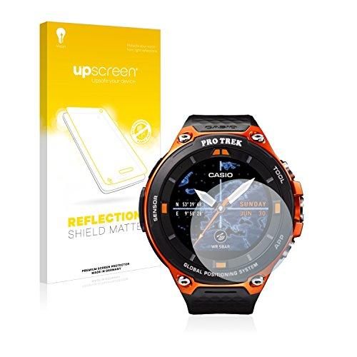 upscreen Entspiegelungs-Schutzfolie kompatibel mit Casio WSD-F20 – Anti-Reflex Bildschirmschutz-Folie Matt