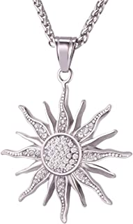 RWATS Necklace jewelry Sun Flower Necklace Pendant Rhinestone Stainless Steel/Gold Color Rope Chain For Women Party Chic Jewelry