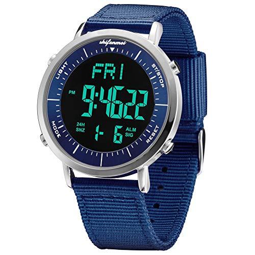 Relojes Digitales, Reloj Deportivo Digital Unisex para Hombres, Mujeres, niños (Azul-1)