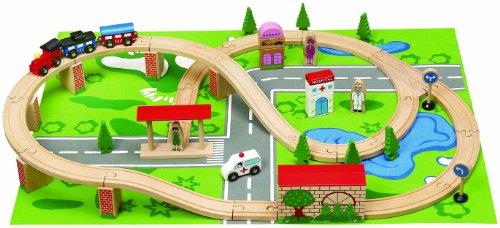 Wooden Toys Train Set (50 Pieces)
