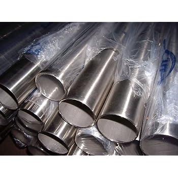 Edelstahlrohr V2A Edelstahl Gel/änder Rohr Rundrohr geschliffen Korn 240 andere L/ängen bis 6 m auf Anfrage m/öglich verschiedene Durchmesser und L/ängen D=48,3x2 mm/², L/änge 1200 mm - 120 cm