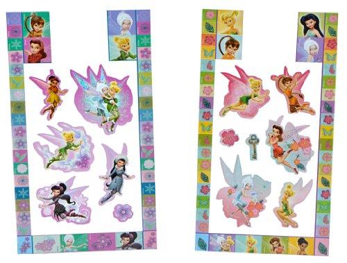 alles-meine.de GmbH 52 TLG. Set Sticker / Aufkleber -  Disney Fairies Tinkerbell  - selbstklebend - Elfen - für Kinder Fairy Feen - Kindersticker