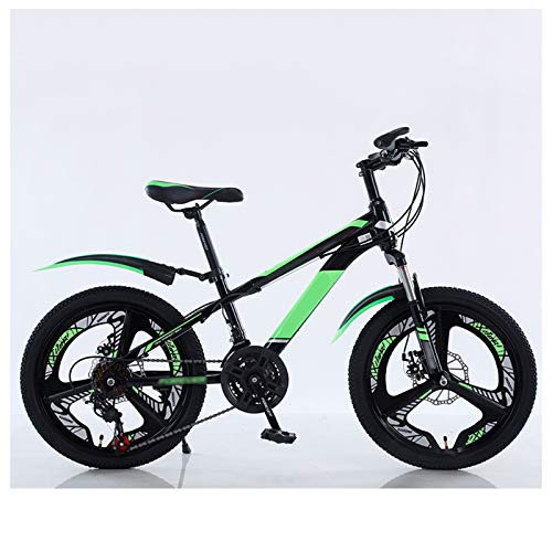 OFFA 20 Inch Kids Bike Mountain Bicycles, 21-speed Speed Disc Brake Shock-absorbing Mountain Bicycle, Kids Cruiser Cycling,Brake Safely, Boys Girls Suitable For Height 130-160cm