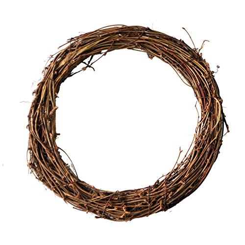Ougual DIY Crafts Natural Grapevine Wreaths (12 Inch, 2 Pack)