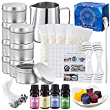 Onebird DIY Candle Making Kit Supplies, Arts & Craft Tools Including Pouring Pot, Cotton Wicks, Candle Wicks Holder, Beeswax, Essential Oil,Wax Cubes,Spoon & Candles tins