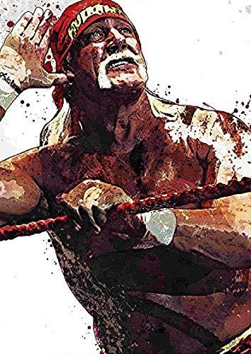 ZZFJF Rompecabezas de 1000 piezas para adultos, rompecabezas de lucha libre, estrellas de deporte Hogan, juguetes de madera