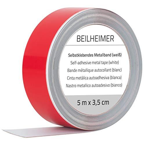 Beilheimer - Cinta de hierro 5m x 3,5cm cinta adhesiva de manganeso cinta magnética de hierro autoadhesiva