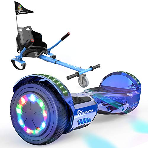 """EVERCROSS Hoverboard, Self Balancing Scooter Hoverboard with Seat Attachment, 6.5"""" Hover Board Scooter with Bluetooth Speaker & LED Lights, Hoverboards Suit for Kids"""