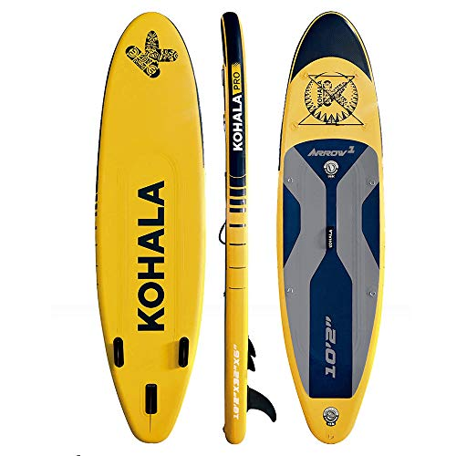 KOHALA Tabla de Paddle Surf Arrow 1 Color Amarillo - Tipo Beginner - Capacidad Máxima 150 kg - Aletas 3 (2+ 1)