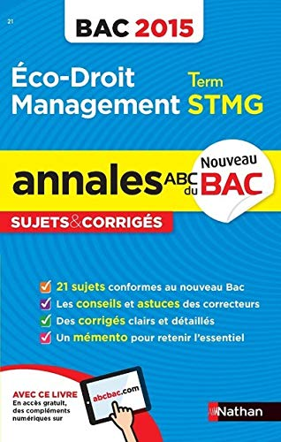 Annales ABC du BAC 2015 Eco - Droit - Management Term STMG