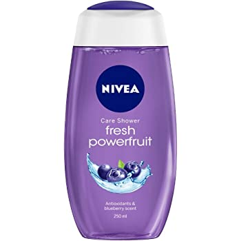 NIVEA Shower Gel, Power Fruit Fresh Body Wash, 250ml