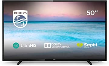 Philips 50PUS6504/12, Smart TV de 126 cm con Tecnología LED, 4K UHD, Pixel Precise Ultra HD, Dolby Vision, Dolby Atmos, Ethernet, 50