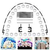 O-Kinee Kit Arco Palloncino, Arco Palloncini da Tavolo Ghirlanda Striscia Kit Nero per Diverse Dimensioni per Matrimoni Compleanni Natale E Festeggia Eventi
