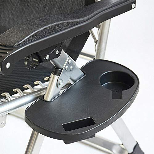SHIJING Neue Ankunfts-Faltbare Liegestuhl Clip auf Beistelltisch Cup Getränkehalter Gartenliege Tray