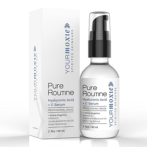 Pure Hyaluronic Serum for Face - with Vitamin C - NATURAL and ORGANIC for Intense Hydration and Moisture, Non-greasy, Pure-Highest Quality, Best Hyaluronic Acid for Glowing Skin and Anti-Aging