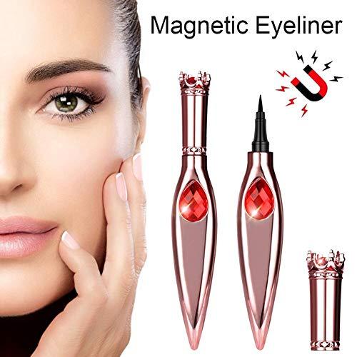 3D Rose Gold Diamond Crown Eyeliner Bleistift wasserdicht kein blühendes Make-up trockener flüssiger Eyeliner Stift große Augen schnell