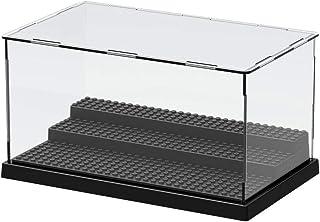 XIN·SHI コレクションケース ディスプレイケース フィギュアケース アクリル製 透明 収納ボックス 展示ケース 模型 ミニ ひな壇 組立簡単