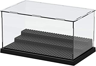Display Box Transparent Assembled Plastic Display Case for Building Block Toys Model