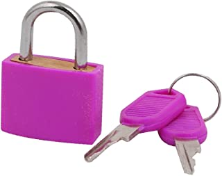 X-Dr Household Office Cabinet Drawer Luggage Case Security Padlock Purple w Keys (749cacf6-a222-11e9-8d7c-4cedfbbbda4e)