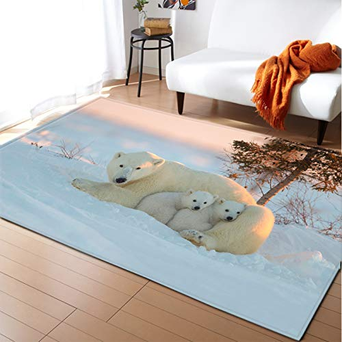 Michance Thick Non-Slip Waterproof Carpet Large Floor Mats Suitable For Hotels, Shopping Malls And Families Non-Shedding Pet Mat Animal Pattern