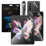 Qoosea 2 Sets Samsung Galaxy Z Fold 3 5g Protector De Pantalla Película De Hidrogel, TPU 3D Película Protectora Suave, Protector de Pantalla HD Clear Anti-Scratch