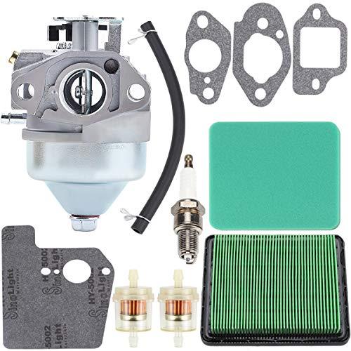 HIPA GCV190 Carburetor with Air Filter for Honda GCV 190 GCV190A GCV190LA Engine HRB217 HRX217 HRX217K1 HRX217K2 Lawn Mower 16100-Z0Y-813 Spark Plug