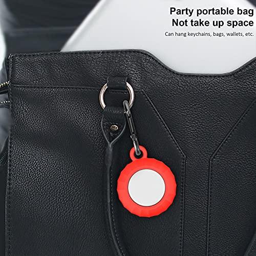 Roexboz 2 custodie protettive per Apple Airtags in pelle di silicone compatibile con Airtags Locator Tracker
