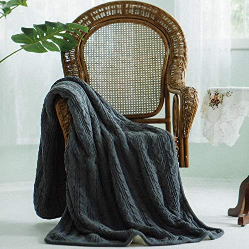Coperta morbida - tante dimensioni e colori diversi - coperta in microfibra da soggiorno copriletto copri divano - vello in microfibra di flanella -Grigio_150 * 200 cm.