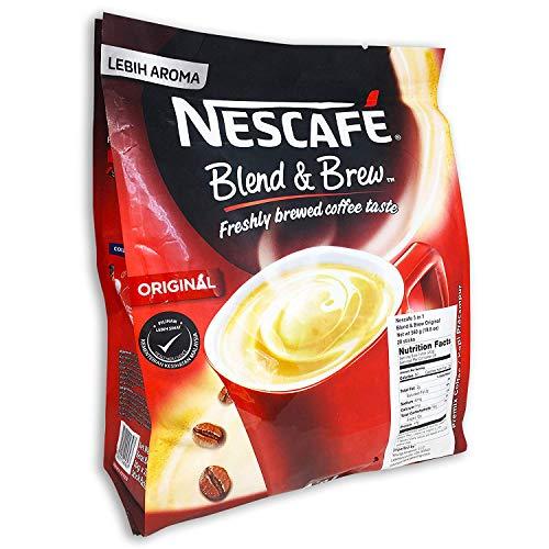 4-PACK Nescafe 3-in-1 Original Blend and Brew Premix Instant Coffee (112 Sticks)