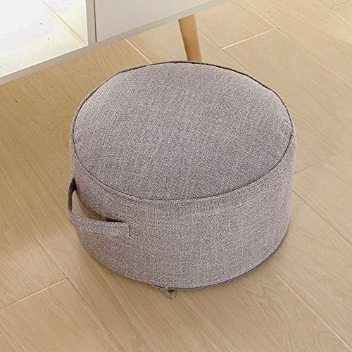 WEIZI Detachable handle round stool ottoman ottoman ottoman footrest floor seat cushion futon stool washable bedroom-e 38x38x20cm (15x15x8)