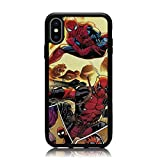 iPhone XR Case, Cartoon Spiderman Deadpool Collage Print Soft Silicone & Hard Back Cover, [Shock Absorbent] Shell Protective Case for iPhone XR 6.1 Inch 2018 Release