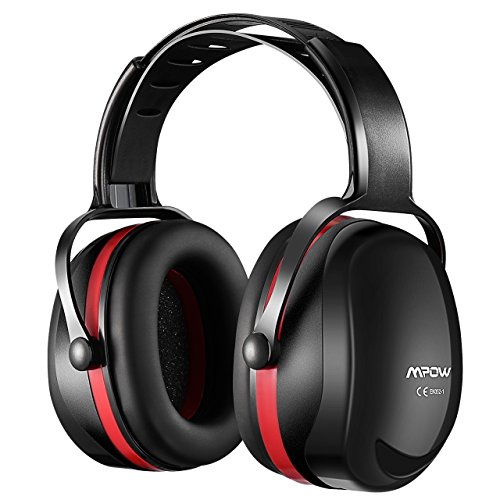 Mpow [Upgraded] Noise Reduction Safety Ear Muffs, SNR 36dB Shooting Hunting Muffs, Hearing Protection with a Carrying Bag, Ear Defenders Fits Adults To Kids with Twist Resistant Headband- Black