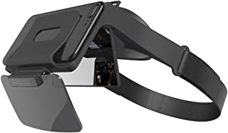 映画ゲームヘッドセットビューアhdスマートフォンスクリーンメガネfov 69°マルチシーンarメガネハンドフリー映画ゲームヘッドセット用4.7-5.5インチ携帯電話
