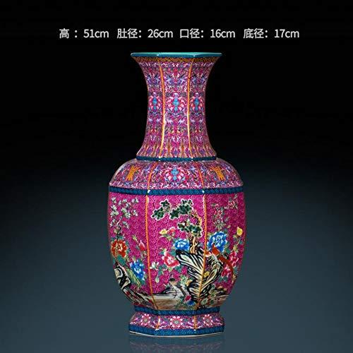 MESYR Keramik Antike Imitation Qianlong Acht Party Landing Große Vase Chinesische Antike Wohnzimmer Dekoration Dekor Keramik Vase