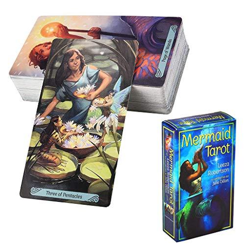 Gxnimer Mermaid Tarot Deck - 78-Karten-Kit mit elektronischer Anleitung für Familienfeiern