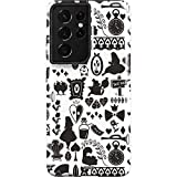 Skinit Pro Phone Case Compatible with Galaxy S21 Ultra 5G - Officially Licensed Disney Alice in Wonderland Silhouette Design