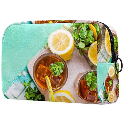 Lavado bolsa cosmética impermeable, bolsa cosmética para hombres y mujeres, verde hierba