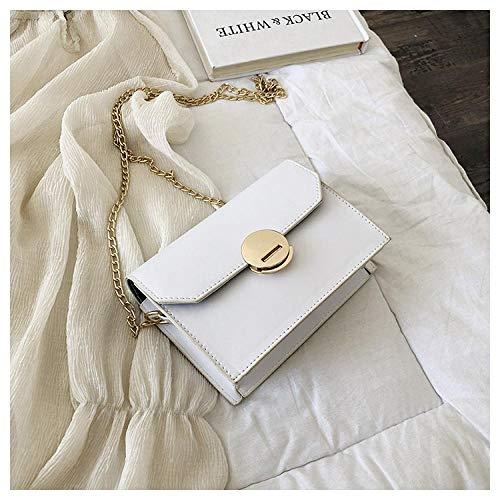 Bag Ladies Ladies Pu Leather Solid Color Simple Retro Messenger Bag Bracelet Chain Shoulder Strap Casual Messenger Bag 1