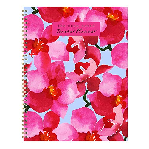 Large Floral Open Dated Weekly Teacher Planner Lesson Plan Book