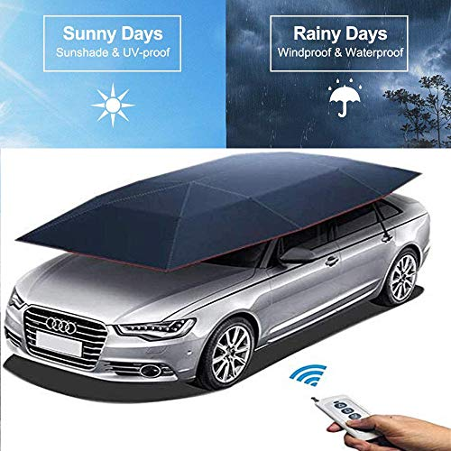 S SMAUTOP Car Tent Automatic Car Umbrella Protection Automatic Car Cover Portable Sun-proof Shelters(Fully automatic)