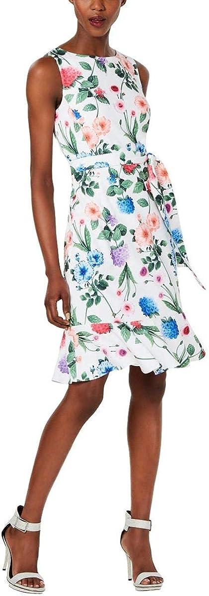 Calvin Klein Women's Petite Cheap sale Sleeveless with Ruffle an Sheath SEAL limited product Hem
